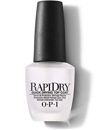 OPI Nail Lacquer RapiDry Top Coat – Durchsichtiger Überlack – Lässt die Nägel schneller trocknen & kreiert ultimativen Glanz – NTT74 – 15 ml