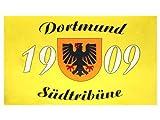 Alsino Dortmund Fahne Meisterfahne Flagge Dortmundfahne Hissfahne Zimmerfahne, wählen:FL-DO04 Dortmund Südtribüne