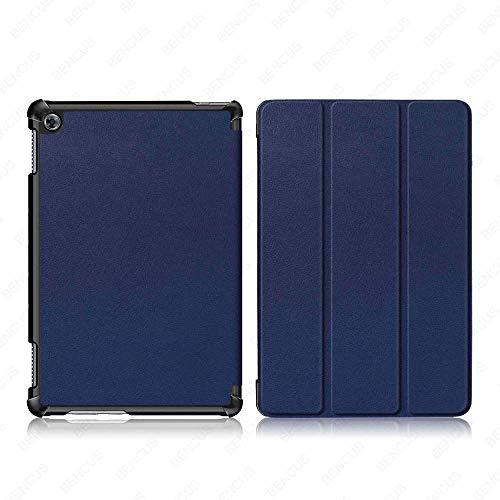 YYLKKB Funda para Huawei Mediapad M5 Lite 8 10 Funda para Tableta para Huawei Mediapad M5 Lite Funda-KST-Azul Oscuro_M5 Lite 8 Pulgadas