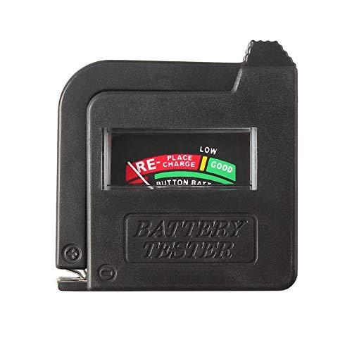 Ygerbkct Probador de batería Universal BT-168 para 9V 1.5V y Pila de botón AAA AA CD Indicador de comprobador de probador de Voltaje de Pila de botón Universal