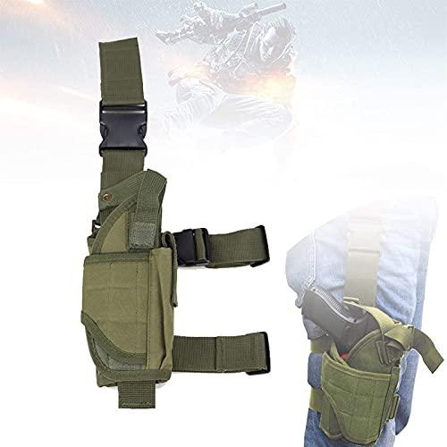 HTDHS Funda táctica de la pierna, bolsa de caza con un paño de oxford ajustable, de alta densidad, impermeable y resistente al desgaste, una funda de pistola táctica universal para la caza, los deport