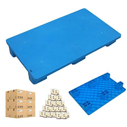 LIANGJUN-Palés Pallet plástico, HDPE Durable Bienes Almacenamiento Almohadilla A Prueba De Humedad Supermercado Beber Estante Balcón, 2 Tamaño (Color : Blue, Size : 100x50x13cm)