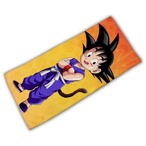 Amacigana Coole Anime Dragon Ball Strandtuch,3D Cartoon Strandtuch für Kinder,Mikrofaser,Gesicht Haar Handtuch,saugfähig Badetücher schnell trocknend Handtuch Decke (Dragonball #03,80 x 160 cm)