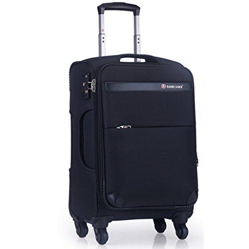 Fashion 24 Pulgadas de Aduanas Maleta de Bloqueo 42 * 29 * 65cm Cuero Negro Maleta de Viaje púrpura Outdoor (Color : #2)