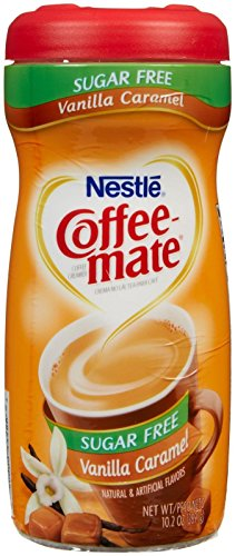 Coffee-Mate Vanilla Caramel, Sugar-Free Powdered Coffee Creamer, Kaffeesahne Pulver - Vanille Karamell - OHNE ZUCKER! aus USA