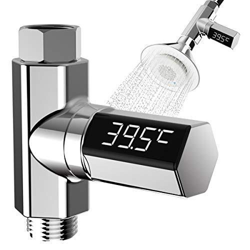 TSP Faucets Accessories LED Digital Shower Temperature Display Water Thermometer Monitor (Color : Seven Light Colors with Remote)