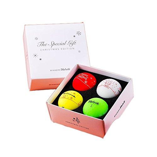 Volvik Unisex's Pack, Chirstmas Golf Balls, Muli Colour, One Size