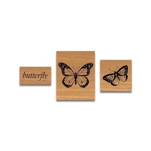 Cavallini - Tin van rubber stempels - Vlinders - Set van 3 stempels