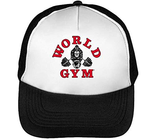 World Gym Gorilla Cappello Snapback Nero Bianco