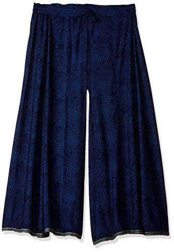 Biba Hose aus Baumwolle, Beige - Blau - L (36