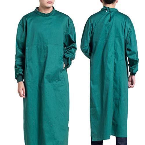 Artibetter Beschermende Overall Overall Medische Isolatie Jurk Medische Scrub Arts Verpleegkundige Uniform Kleding (Donkergroene Maat Xl)