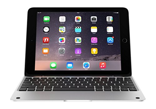 Incipio ClamCase Pro for iPad Air 2, ClamCase Pro Bluetooth Keyboard [100 Hour Playtime] for iPad Air 2 - White/Silver