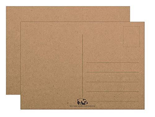 Extra dicke Blanko-Postkarten Kraftpapier Karton 25 Stück zum Selbstgestalten
