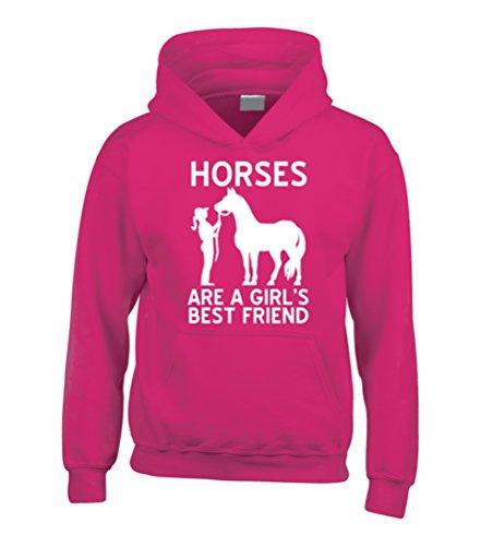 """Edward Sinclair - Felpa con cappuccio con stampata la scritta in inglese """"Horses are a Girls Best..."""