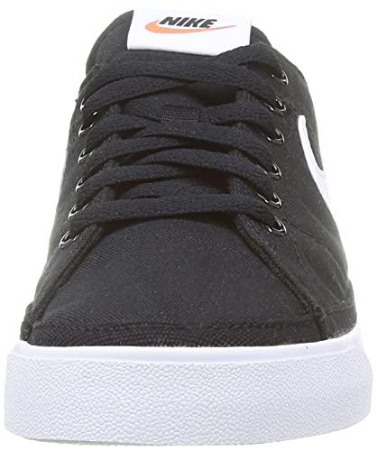 Nike Court Legacy Cnvs, Zapatillas de Gimnasio Hombre, Black/White, 44 EU