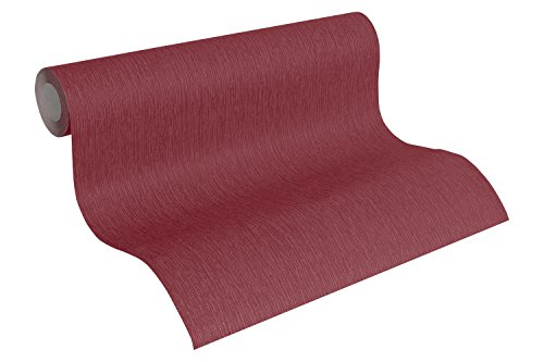 A.S. Création Vliestapete Paloma Tapete Unitapete 10,05 m x 0,53 m rot Made in Germany 300936 30093-6