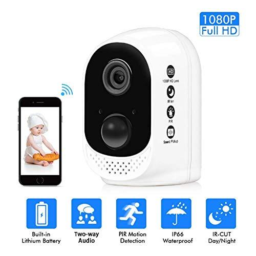 1080P WLAN Kamera Mit 2 Wege Audio,Bewegungserkennung,Nachtsicht, Indoor-Baby/Haustier-Monitor,Angetrieben Von Einem Akku,Model: FT12