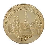 n/aチェルノブイリ核流出記念コインコレクション10周年記念ギフトお土産アートメタルアンティーク、チェルノブイリ10周年記念コイン、ゴールド