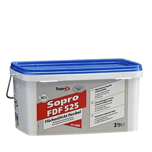 Sopro Flächendicht flexibel FDF, grau, Eimer 3 kg