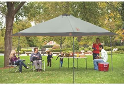 Amazon com: Coleman® 13' x 13' Instant Eaved Shelter, 9 ft  7 in