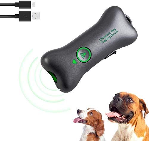 HUONIUPIC TAPÓN ULTRASÓNICO Anti-LADRIDOS para Perros, con FUNCIÓN DE Carga USB, Dispositivo Anti-LADRIDOS PORTÁTIL, Entrenador ULTRASÓNICO Anti-LADRIDOS para Perros.