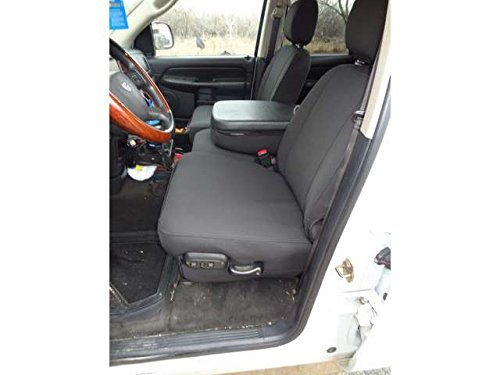 Durafit Seat Covers, D1289 C1, Seat Covers Made in Black Endura for Dodge Truck Front 40/20/40 Split Seat with Console. Drivers Side Electric with Lumbar Adjustment