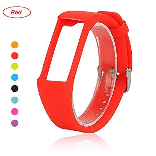 Bemodst® Armband für Polar A360 Fitness-Tracker, Ersatzzubehör Uhrenarmband, weiches Silikon Schreibband Armband für Polar A 360 Smartwatch, rot
