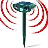 JIA LE Solar Animal Repeller, Ultrasonic Animal Repeller, Solar Powered Outdoor Animal...