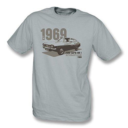 TshirtGrill Ford Capri MK1 T-Shirt, Größe L, Grau