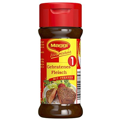 Maggi Würzmischung 1, für gebratenes Fleisch, pikantes Gewürz, mit Kräutern, für saftige Steaks oder leckere Schnitzel 1er Pack (1 x 78g)