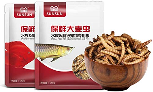 Bestfortune Bird Food, High-Protein Mealworm, Suitable for Turtles,Fish , Hamsters, Chickens, Arowanas, Blood Parrot Fish, Rohan Fish, etc. (280g)