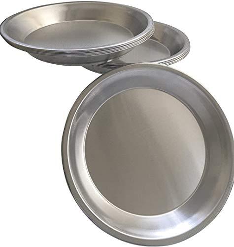Pie Plate Aluminum Metal 9 Inch pan - Set of 10