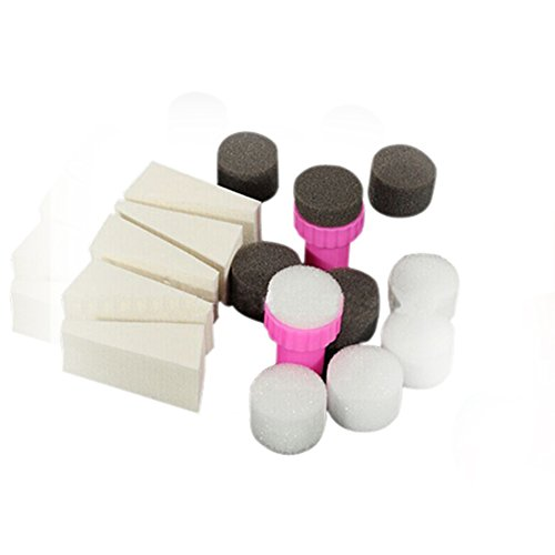1 Set 15pcs Nail Art Sponge Stamp Stamper Shade Transfer Template Polish Manicure Tool by Broadfashion