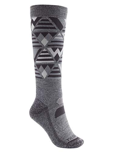 Burton Damen Performance Midweight Sock Snowboardsocken, Grau meliert, Medium