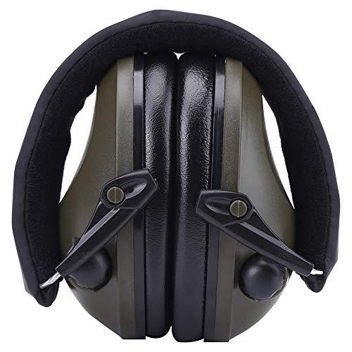 Headset Gehörschutz, Aktive Rauschunterdrückung Ohrenschützer Headset Gehörschutz Ohrenschützer für Bau Jagdschießen Militär(Armee-GrünTAC6G)