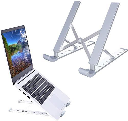 Supporto per laptop in lega di alluminio, supporto per laptop regolabile a 9 livelli Ohuhu, supporto per laptop ventilato ergonomico portatile e pieghevole per 27-41 cm MacBook , notebook, computer
