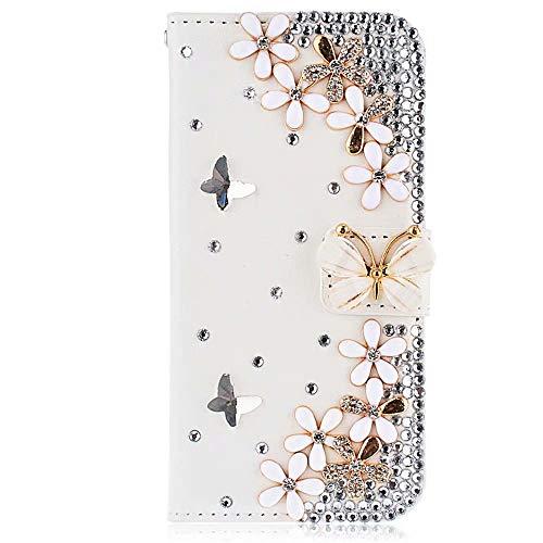 Glitzer Handyhülle für Samsung Galaxy S21 5G Hülle Bling Strass Diamant Wallet...