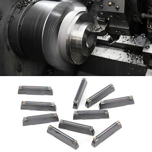 Herramienta de torneado de torno, herramientas de corte de torno de carburo sólido CNC 2 cm / 0,8 pulgadas 10 piezas indexable para corte de metales