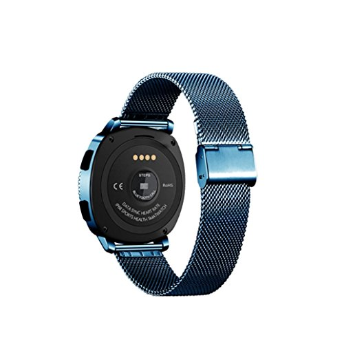 Sonmer Smart Fitness Tracker, Activity Tracker with Heart Rate Monitor Watch, IP68 Waterproof Smart Wristband with Touch Screen Watch Pedometer Sleep Monitor for Kids Women Men (Royal Blue)