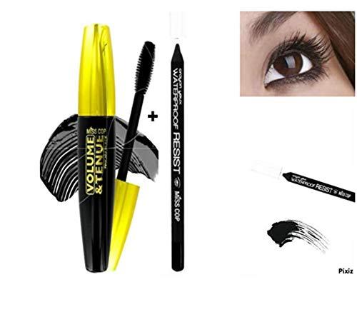 Kit Mascara Volume Noir tenue + Crayon Yeux Etanche Noir (kit de 2 Produits)