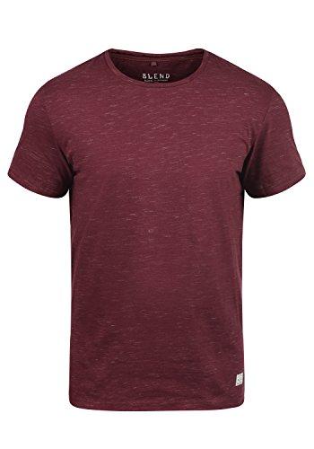 Blend Barnd Herren T-Shirt Kurzarm Shirt Mit Rundhalsausschnitt, Größe:L, Farbe:Zinfandel (73006)
