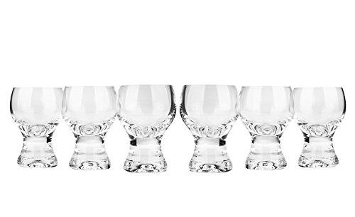 Bohemia Crystal Gina Liqueur Glasses, Vodka Shots, 2 Ounce/3-Inch High, Set of 6, Clear