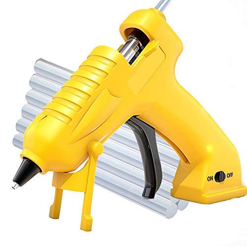 Cordless Hot Melt Glue Gun, Rechargeable Fast Preheating Glue Gun Kit with 10 Clear Glue Stick, Hot Melt Glue Gun for Art, Crafts, Decorations, Fast Repairs
