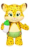 Snap Toys Word Party - Franny 10' Stuffed Plush Snuggle and Play Baby Cheetah with Bottle - from The Netflix Original Series - 18+ Months