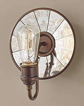 Feiss Urban Renewal Mirrored Glass Industrial Vintage Wall Sconce Lighting