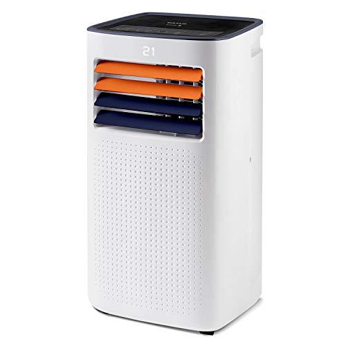 Taurus Temp Design + - Aire acondicionado portátil. Climatizador 4 en 1: calor, frío, deshumidificador y ventilador. Silencioso. Temporizador. Mando a distancia. Kit ventana. Ruedas. 2.6kW/2.1kW