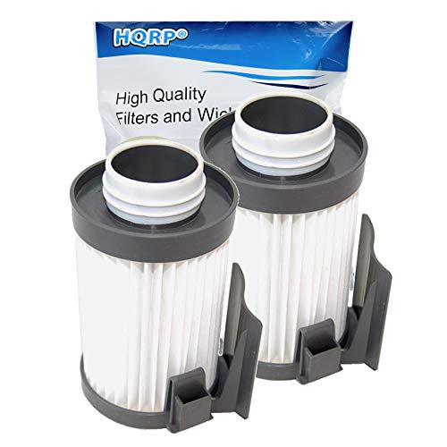 HQRP 2-Pack Washable Filter Compatible with Eureka Optima 431 437 431BX 431F 437AZ 431DX 433A 431A 431AX 431AXZ 431B 433B 433BE 433BET 437AXZ Lightweight Vacuums