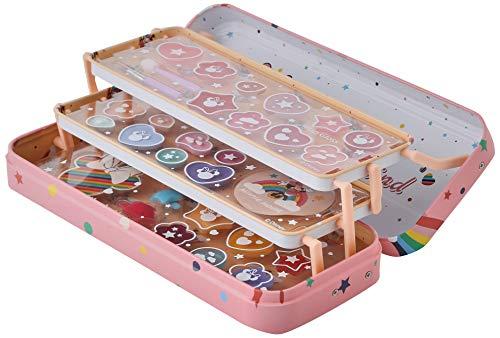 Markwins- Disney Mouse Lip & Face Tin-Set Niñas Minnie-Neceser, Selección de Productos Seguros en una Lata de Maquillaje Reutilizable con 3 Pisos (1580154E)