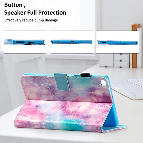 Dteck Case for Samsung Galaxy Tab S5e 10.5 Tablet SM-T720/T725 2019 Release - Slim Premium PU Leather Multi-Angle Folio Stand Smart Magnetic Cover with Auto Wake/Sleep, Galaxy