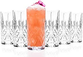 RCR 25766020006 Melodia Crystal Hi-Ball Cocktail Water Tumblers Glasses, Set of 6, 350 ml, Hand Crafted from Quality...